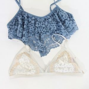 Victorias Secret Bralette Set Medium Lace VS